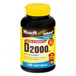 Mason natural vitamin D3 2000 Iu softgels - 120 ea