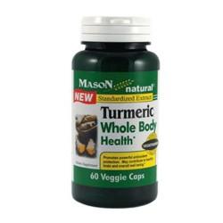 Mason Natural Turmeric Whole Body Health Veggie Capsules - 60 Ea