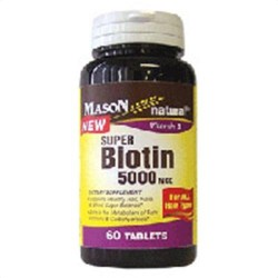 Super Potency Biotin 5000Mcg Tablets By Mason Vitamins - 60 Ea
