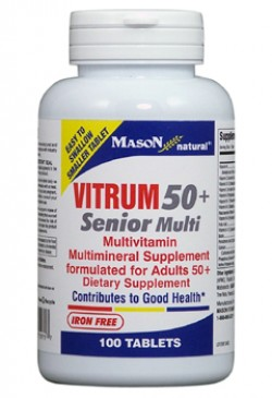 Mason Natural Vitrum 50 Plus Senior Multivitamin Tablets - 100 Ea