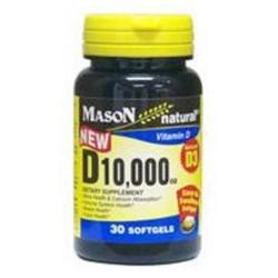 Mason Natural Vitamin D3 10,000 Iu Softgels - 30 Ea