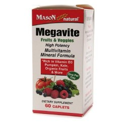 Mason Natural Megavite Fruits And Veggies Multivitamin - 60 Caplets