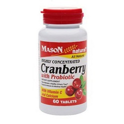 Mason Natural Highly Concentrated Cranberry With Probiotic - 60 Tablets