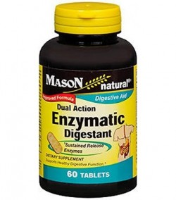 Mason Natural Dual Action Enzymatic Digestant Tablets - 60 Ea