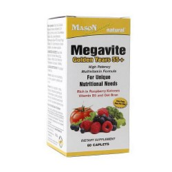 Mason Natural Megavite Golden Years 55 Plus Iron Free Caplets - 60 Ea