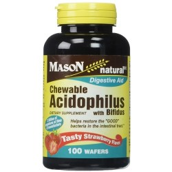 Mason Natural Acidophilus Chewable Wafers, Strawberry - 100 ea