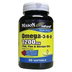 Mason naturals omega 3-6-9 fish flx brg - 60 ea