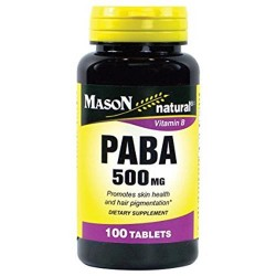 Mason natural paba for skin health and hair pigmentation tablets 500 mg - 100 ea