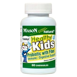 Mason Natural Healthy Kids Probiotic With Fiber Chewable Tablets- 60 Ea