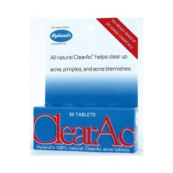 Hyland's 100 percnt natural ClearAc acne tablets - 50 ea