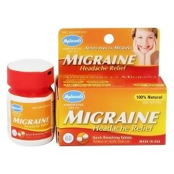 Hylands homeopathic migraine headache pain relief tablets - 60 ea