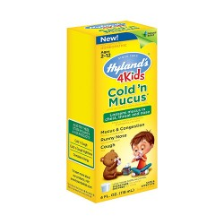 Hylands 4 kids cold and mucus congestion relief liquid - 4 oz