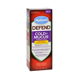Hyland's Defend Cold Plus Mucus Non Drowsy Relief Liquid - 4 oz