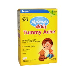 Hylands 4 kids tummy ache tablets for 2 12 ages, homeopathic  -  50 Ea