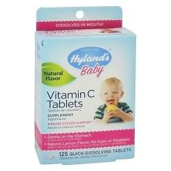 Hylands Baby Vitamin C Tablets, Lemon Flavor - 125 ea