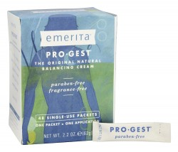 Emerita Pro gest original natural progesterone cream single use packets - 48 ea
