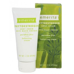 Emerita phytoestrogen body cream with black cohosh for menopause support - 2 oz
