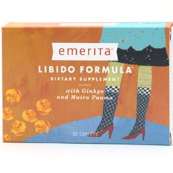 Emerita Libido formula caplets with ginseng and muira puama for women - 30 ea
