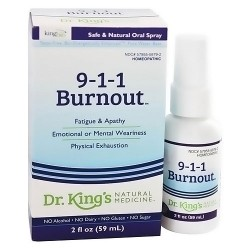 King Bio homeopathic spary 9-1-1 burnout, Taste free - 2 oz