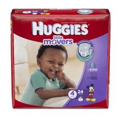 Huggies little movers slip-on diaper pants, jumbo pack, size 4 - 24 ea
