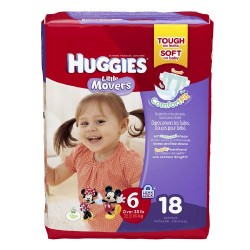 Huggies little movers diapers, jumbo pack, size 6 - 18 ea