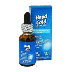 NatraBio homeopathic head cold non-drowsy - 1 oz
