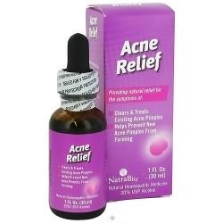 NatraBio homeopathic acne relief oral drops - 1 oz