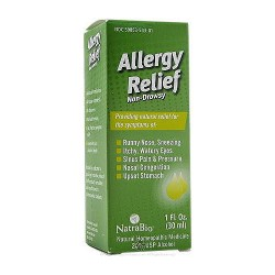 Natra Bio Allergy Relief liquid , Non Drowsy - 1 oz