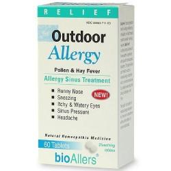 Bioallers outdoor allergy sinus treatment dissolving tablets- 60 ea