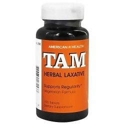 American Health Tam herbal laxative tablets - 100 ea