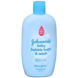 Johnsons baby bubble bath and wash, no more tears - 15 oz