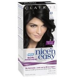 Clairol Nice N Easy Non-Permanent Hair Color 83 Dark Black - 1 Kit