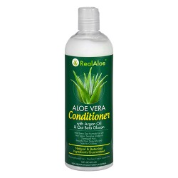 Realaloe aloevera conditioner with argan oil and oat beta glucan - 16 oz