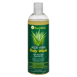 Realaloe aloevera body wash with aloe vera essential oil - 16 oz