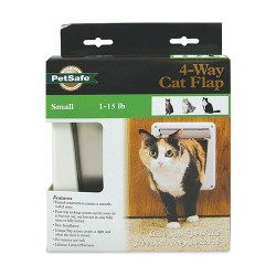 Petsafe - Electronics petsafe deluxe 4-way locking cat door with tunnel - 6 ea