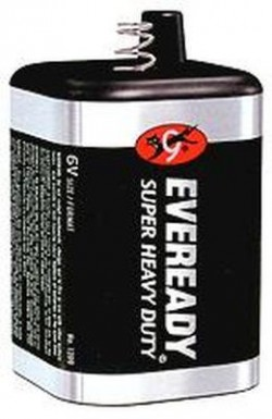 Eveready Super Heavy Duty General Purpose Battery, 6v - 3 ea