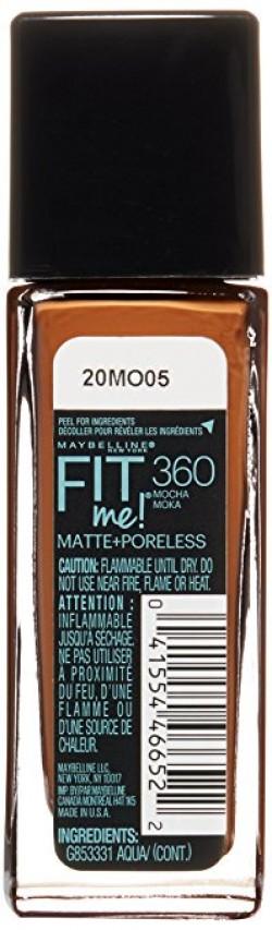 Maybelline fit me matte poreless foundation mocha - 2 ea