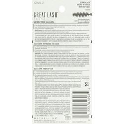 Maybelline great lash waterproof mascara, very black - 6 ea