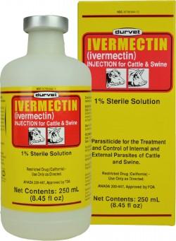 Durvet Inc D ivermectin injection - 250 milliliter, 12 ea