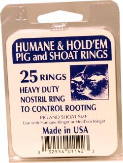 Decker Mfg Company hold'em/humane ring #14 25/bx - 11 gauge, 100 ea