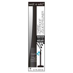 Wet n wild proof liquid eyeliner black, h2o - 3 ea