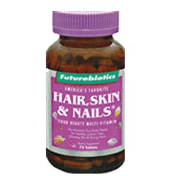 Futurebiotics hair, skin and nails tablets for women - 75 ea