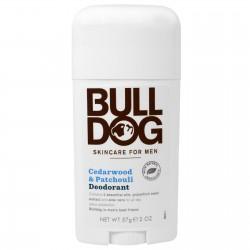 Bull dog sandalwood and patchouli deodorant, skin care for men - 2 oz