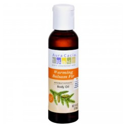 Aura Cacia empty amber glass bottle - 4 oz