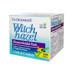 Hemorrhoidal Pads witch Hazel With Aloe - 100 ea