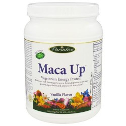 Paradise herbs maca up vegetarian energy, protein vanilla  -  15.94 Oz