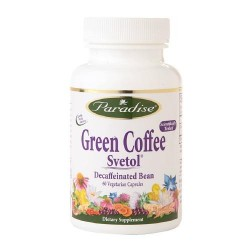 Paradise herbs green coffee svetol decaffeinated bean veggie caps - 60 ea
