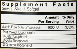 Healthy Origins vitamin E-1000 - 240 ea