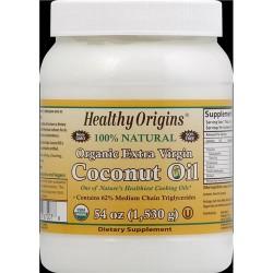 Healthy origins organic extra virgin coconut oil  -   54  oz