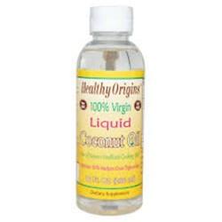 Healthy origins liquid coconut oil   -  10  oz